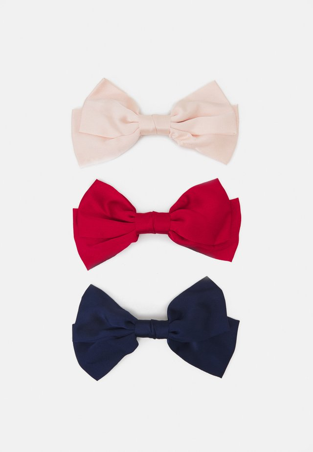 ONLMEREL BOW 3 PACK - Accessori capelli - navy blazer/red/pink