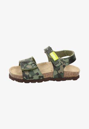 Sandalen met plateauzool - groen