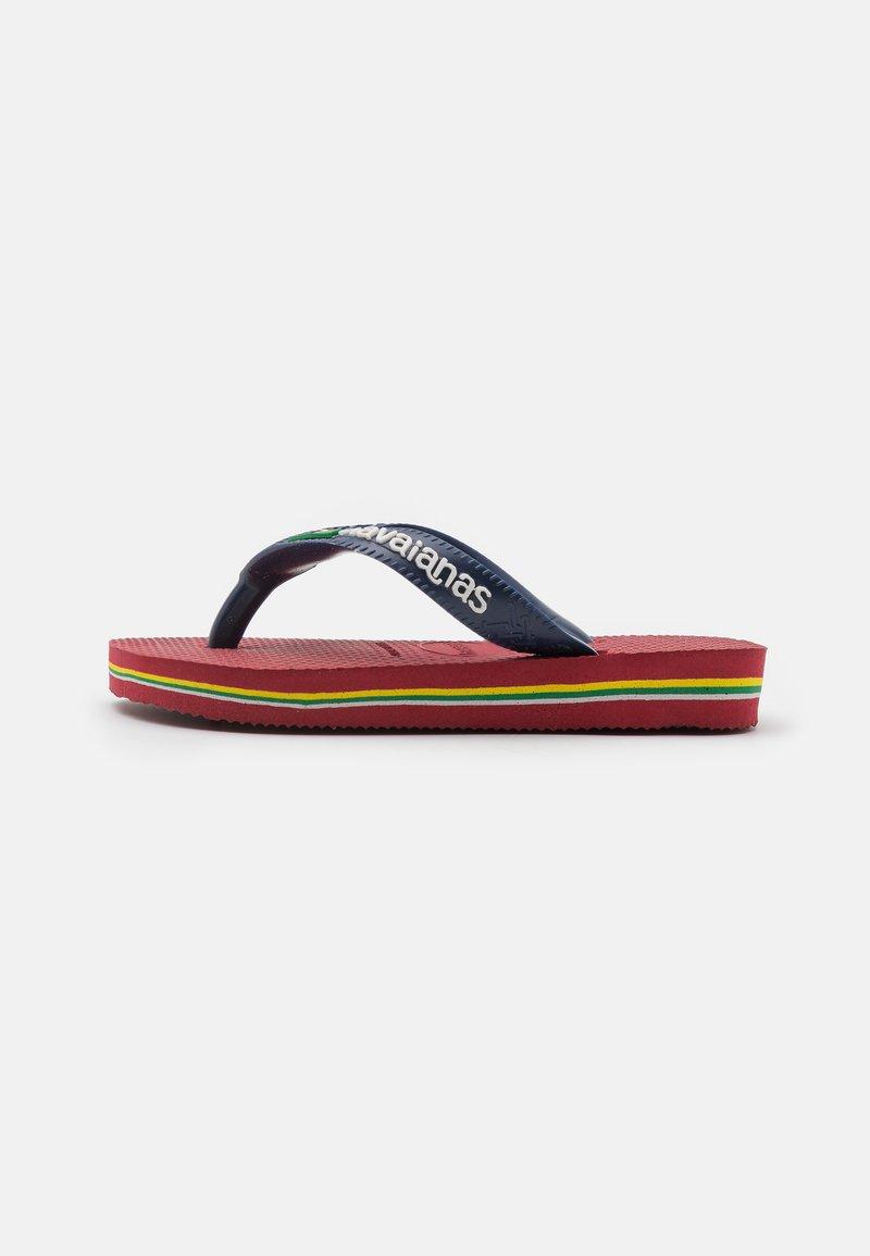 Havaianas - BRASIL LOGO - Pool shoes - red, blue