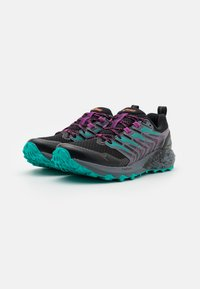 ASICS - GEL-TRABUCO TERRA - Scarpe da trail running - black/digital grape - 1