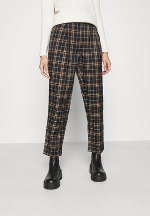 CHECKERED SUIT PANTS - Pantalon classique - blue check
