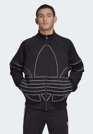 BIG TREFOIL OUTLINE TRACK TOP - Kurtka sportowa - black