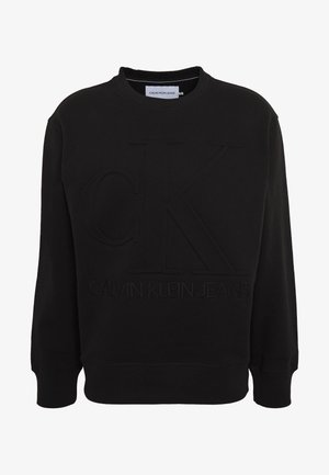 EMBOSSED FASHION CREW NECK - Bluza - black