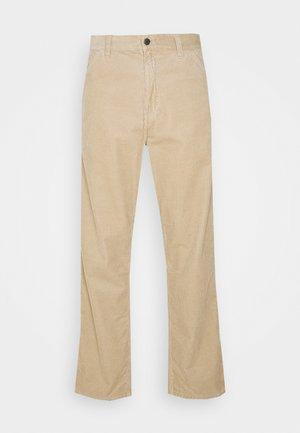 SINGLE KNEE PANT COVENTRY - Spodnie materiałowe - wall rinsed