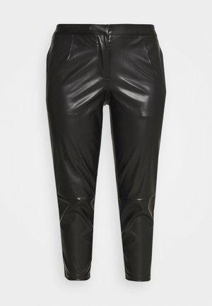 PCROOT CROPPED PANTS CURVE - Kalhoty - black