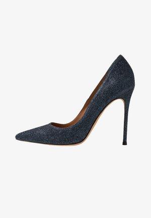 High heels - navy glitter