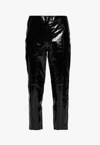 YAS - YASPATTY PATENT PANT SHOW - Lederhose - black - 3