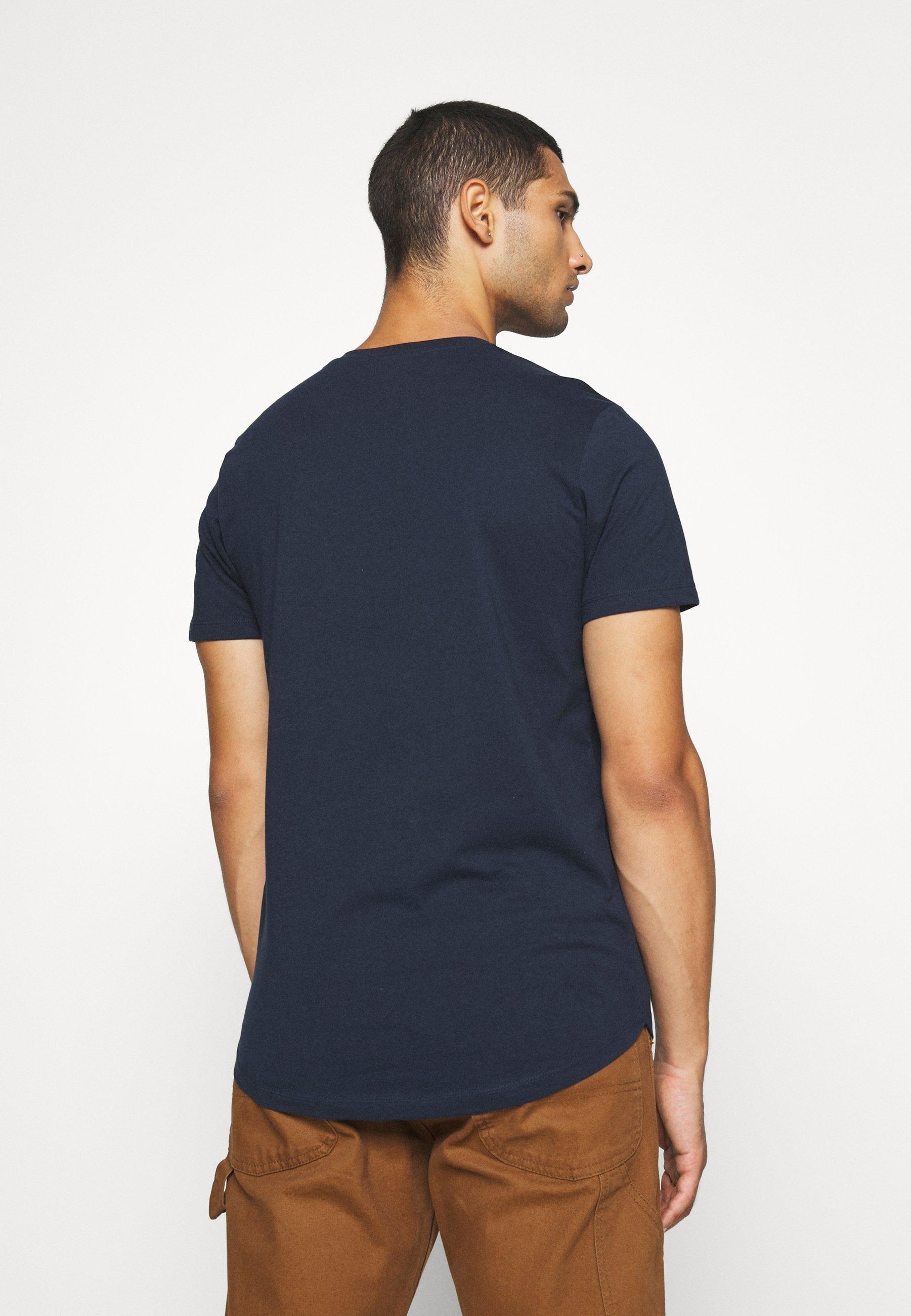 Jack & Jones JJENOATEE CREW NECK  - Basic T-shirt - navy blazer MZLNb