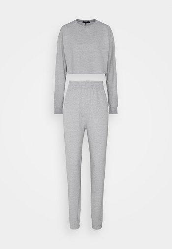 SET - Jumpsuit - grey marl