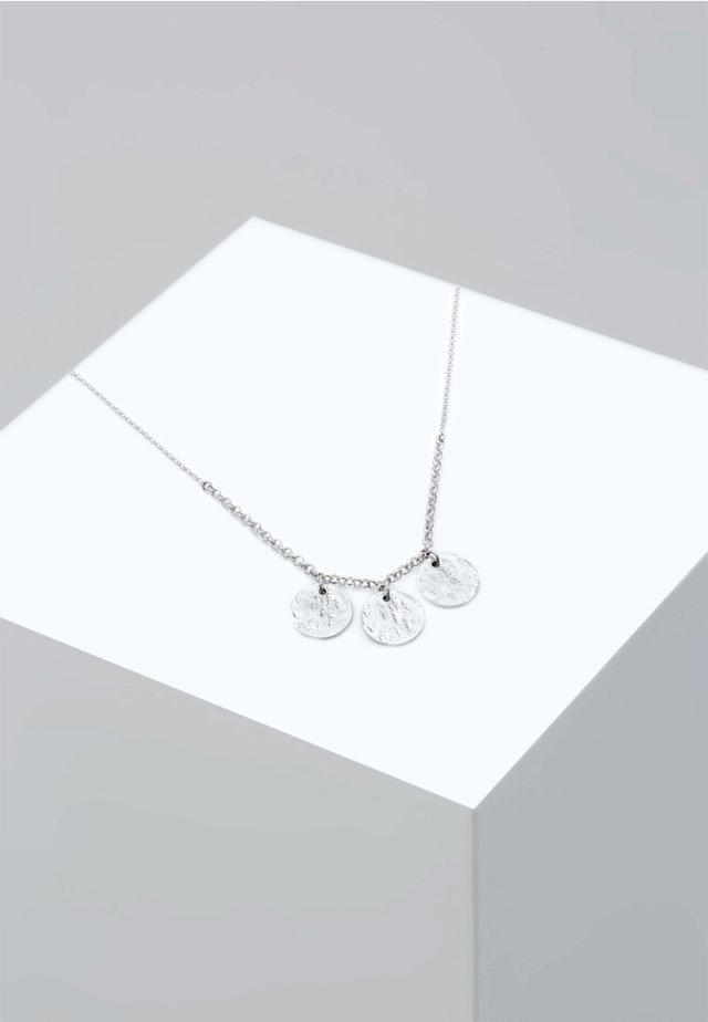 ERBSKETTE KREIS GEO PLÄTTCHEN - Kaulakoru - silver