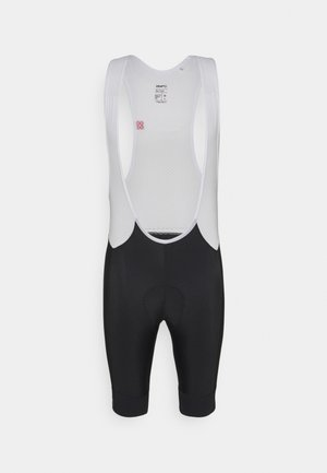 ENDUR BIB SHORTS  - Leggings - black/white