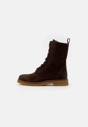 BRENDA - Lace-up ankle boots - dark brown