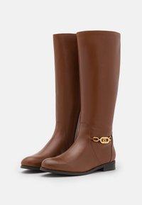Lauren Ralph Lauren - BRADLEIGH TALL BOOT - Boots - deep saddle tan - 2