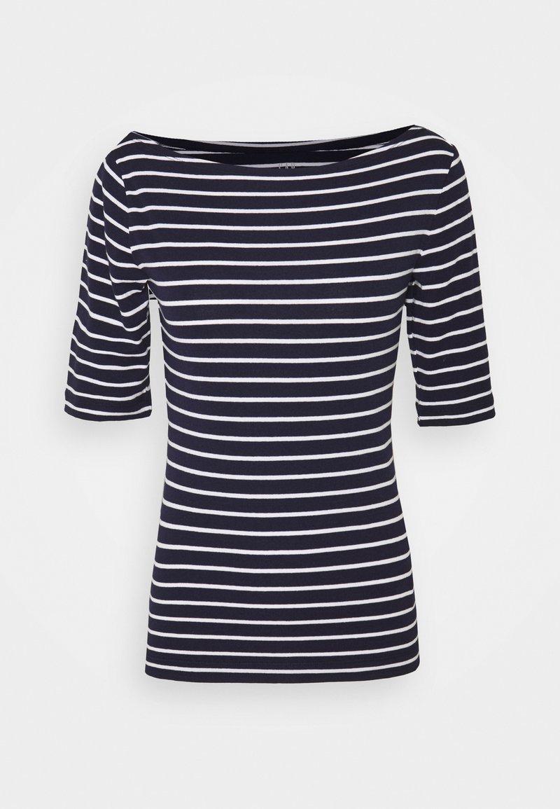 GAP - BOATNECK - Print T-shirt - navy/white