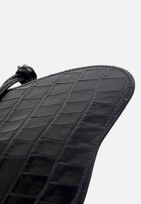Little Liffner - PEBBLE MICRO BAG - Across body bag - black - 4
