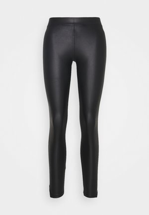 PCNEW SHINY SLIT - Leggings - black