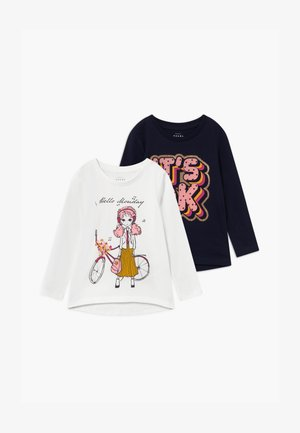 NMFVEEN 2 PACK - Camiseta de manga larga - snow white