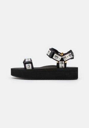 LOGOMANIA - Korkeakorkoiset sandaalit - black