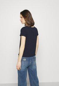 Marc O'Polo DENIM - SHORT SLEEVE V NECK - Basic T-shirt - scandinavian blue - 2