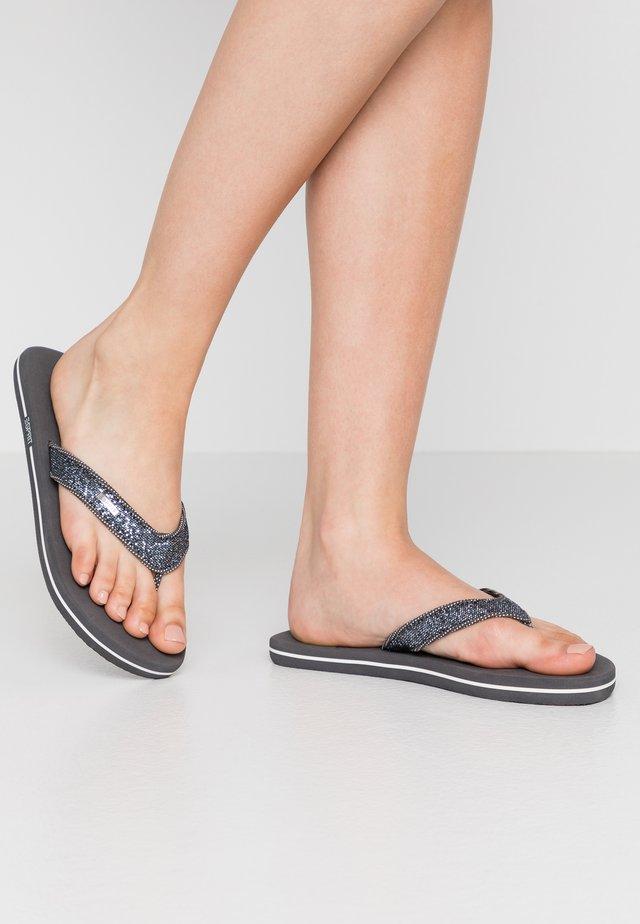 GLITTER THONGS - Sandalias de dedo - gunmetal