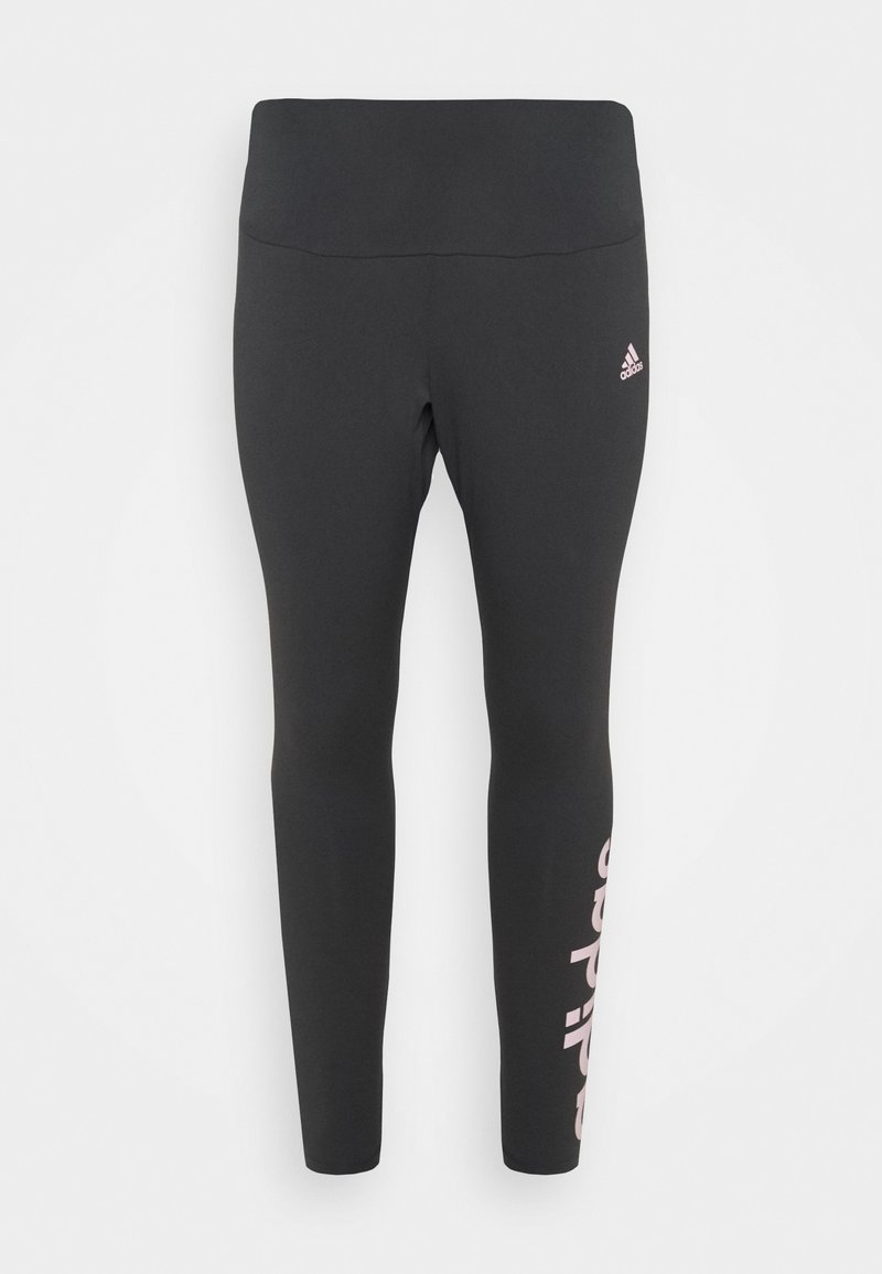 adidas Performance - LINEAR SPORTS ESSENTIALS LEGGINGS FITTED - Leggings - mottled grey