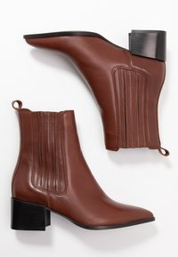 Zign - Classic ankle boots - dark brown - 3