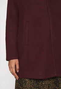 Vero Moda - VMBRUSHEDKATRINE JACKET - Krátký kabát - port royale/melange - 6