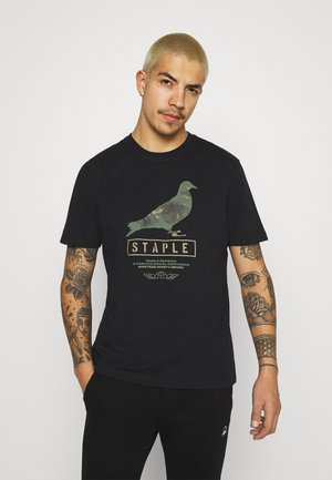 UNISEX WIRE CAMO PIGEON TEE - T-shirt med print - black
