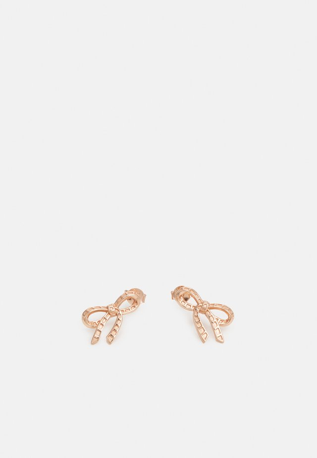 BOW STUD EARRINGS - Oorbellen - rose gold-coloured