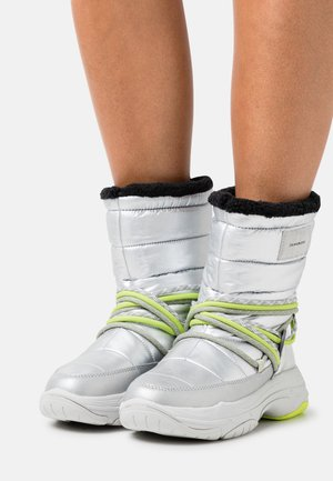 CHUNKY LACEUP - Winter boots - silver