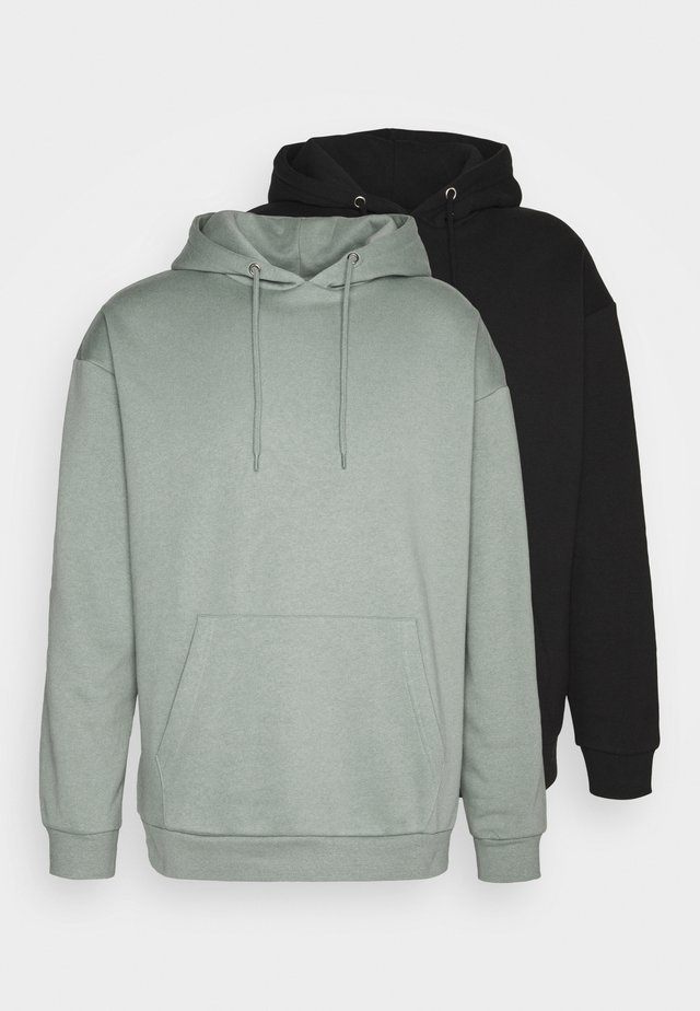 2 PACK - Hoodie - black/green