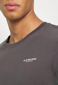 G-Star - TEXT SLIM - T-shirt print - shadow - 5