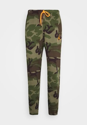 JUMPMAN AIR CAMO PANT - Tracksuit bottoms - medium olive/total orange