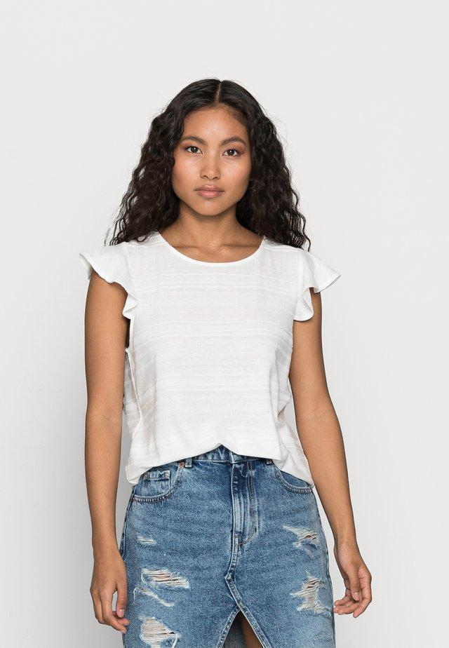 VIFLINT CAPSLEEVE T-SHIRT PETITE - T-shirt imprimé - cloud dancer