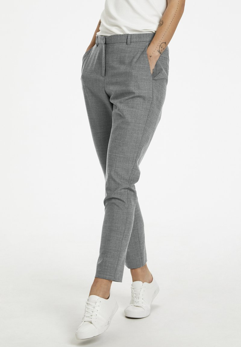 Karen by Simonsen - SYDNEY - Trousers - grey melange