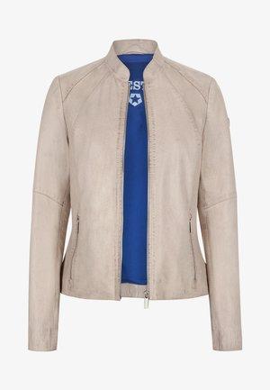 Leather jacket - hellgrau