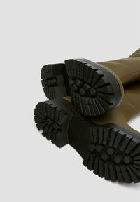PULL&BEAR - Platform boots - khaki - 6
