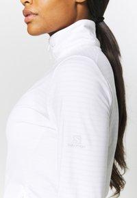 Salomon - OUTRACK - Fleecová bunda - white - 5