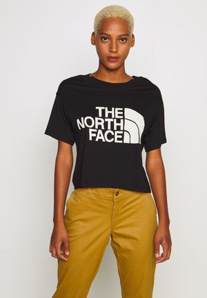 WOMENS HALF DOME CROPPED TEE - T-shirt print - black