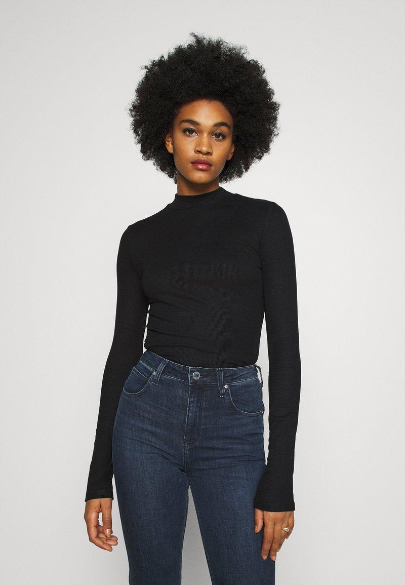 Lee - HIGH NECK LONGSLEEVE - Long sleeved top - black