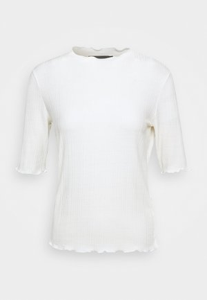 CANDACE TEE - Print T-shirt - egret