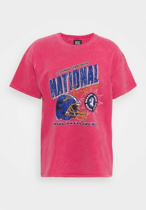 NATIONAL GRAPHIC TEE UNISEX - Print T-shirt - red