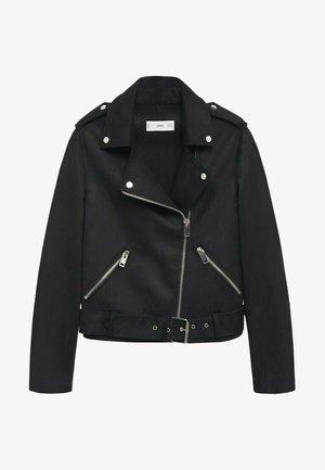 SEUL - Faux leather jacket - black