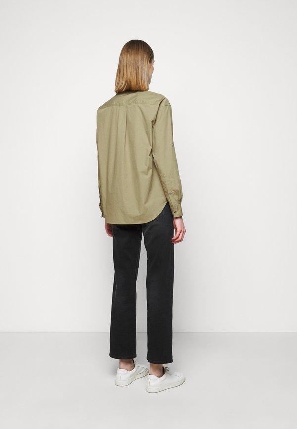 CLOSED BLANCHE - Bluzka - green umber/oliwkowy melanż AWAS