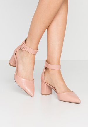 ELSA PART BLOCK HEEL - Tacones - pink