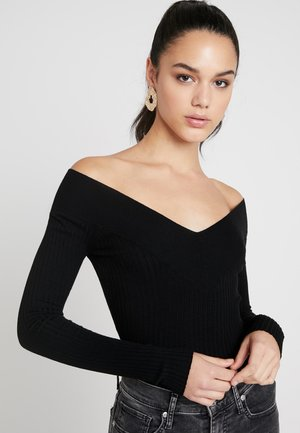 BARDOT NECKLINE - Stickad tröja - black