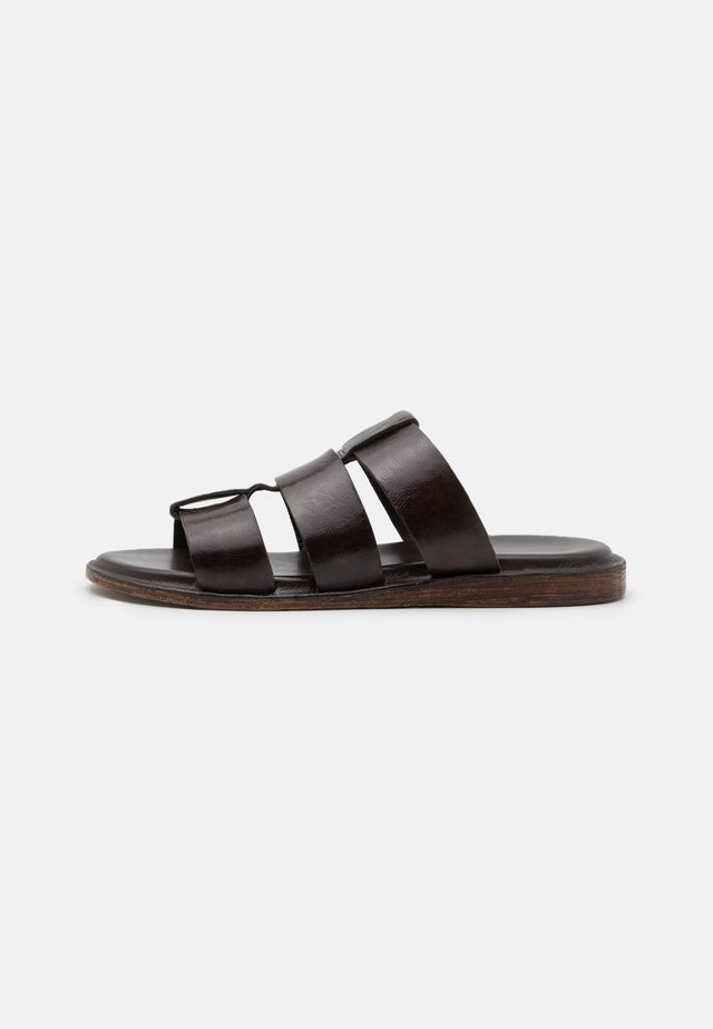 Pantolette flach - dark brown