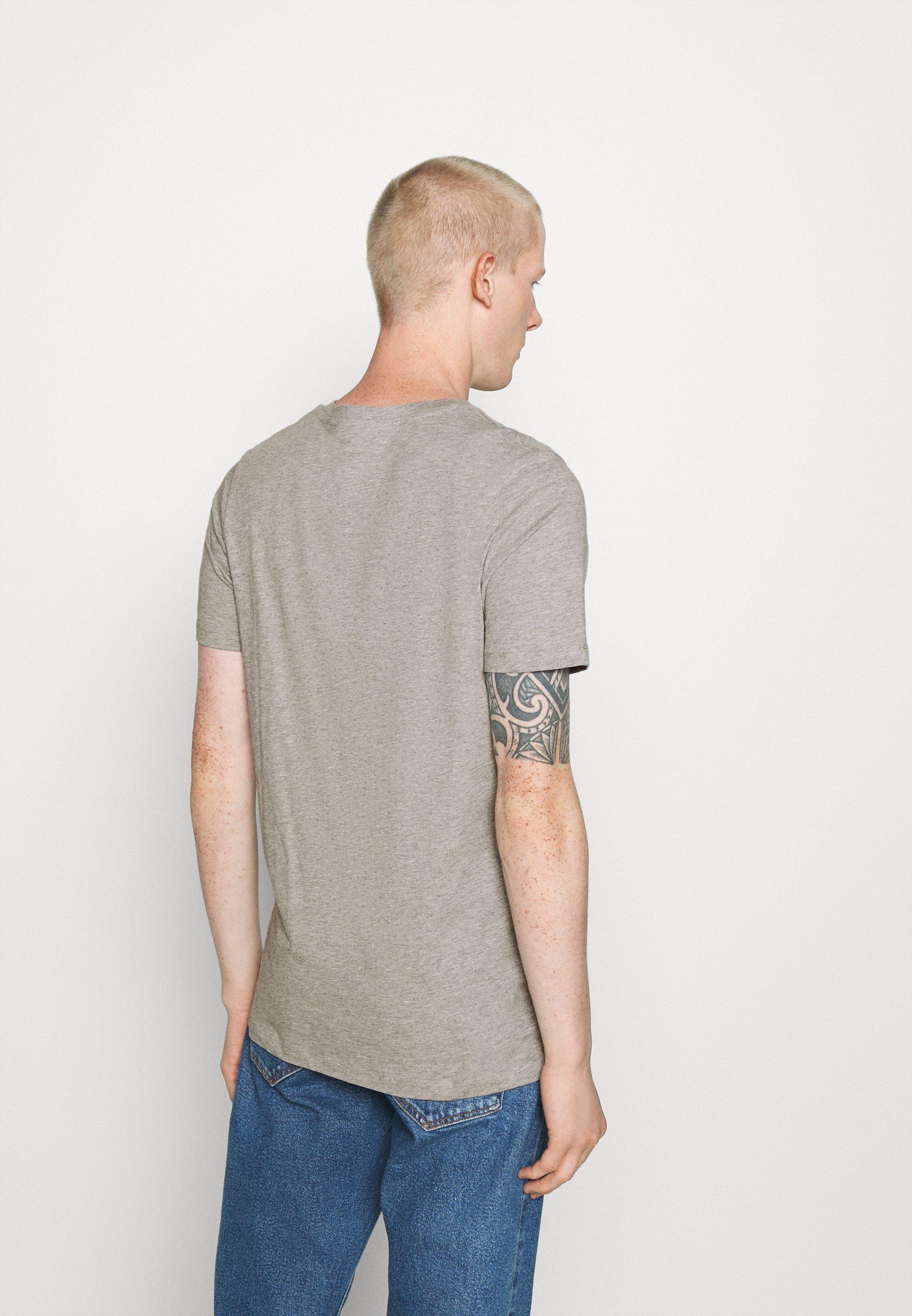 Jack & Jones JJDEN TEE CREW NECK - Print T-shirt - grey vm6cS