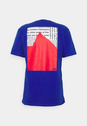KARAKORAM GRAPHIC TEE - Print T-shirt - blue