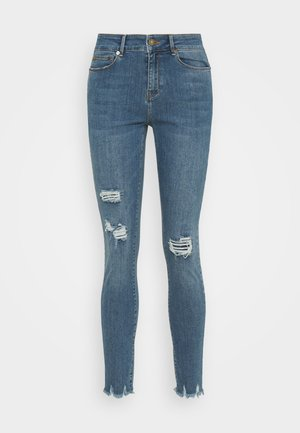 ALEXA ANKLE WASH BERGAMO DISTRESSED - Jeans Skinny Fit - blue